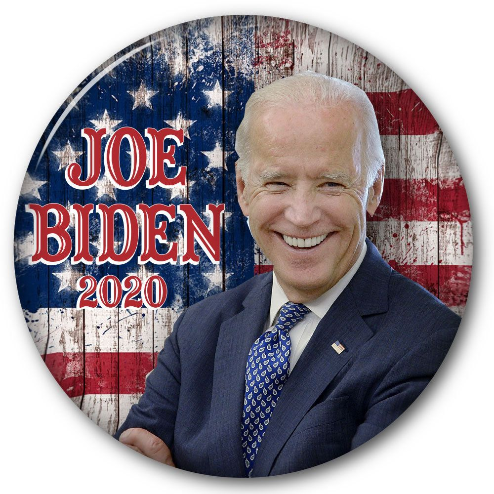 "JOE BIDEN (B) 3"" CAMPAIGN Pin Back Button for Presidential"