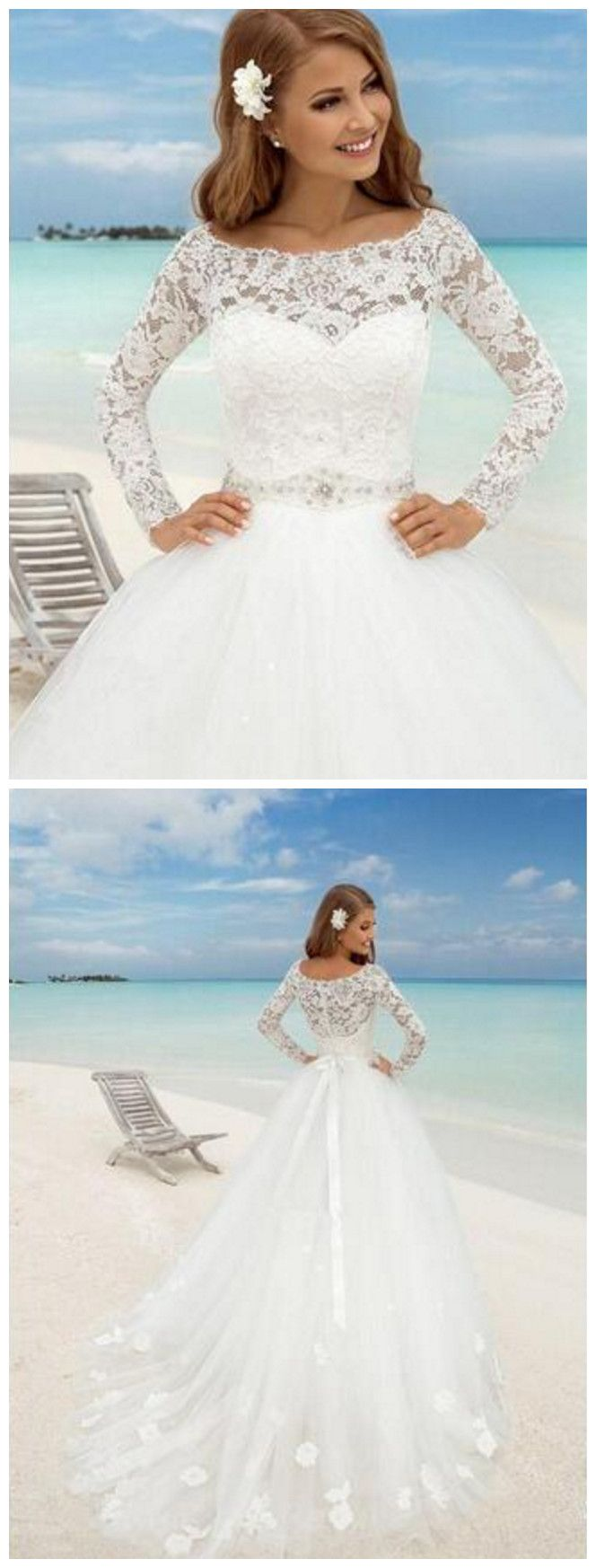 Ball gown lace wedding dresses white court train tulle appliques