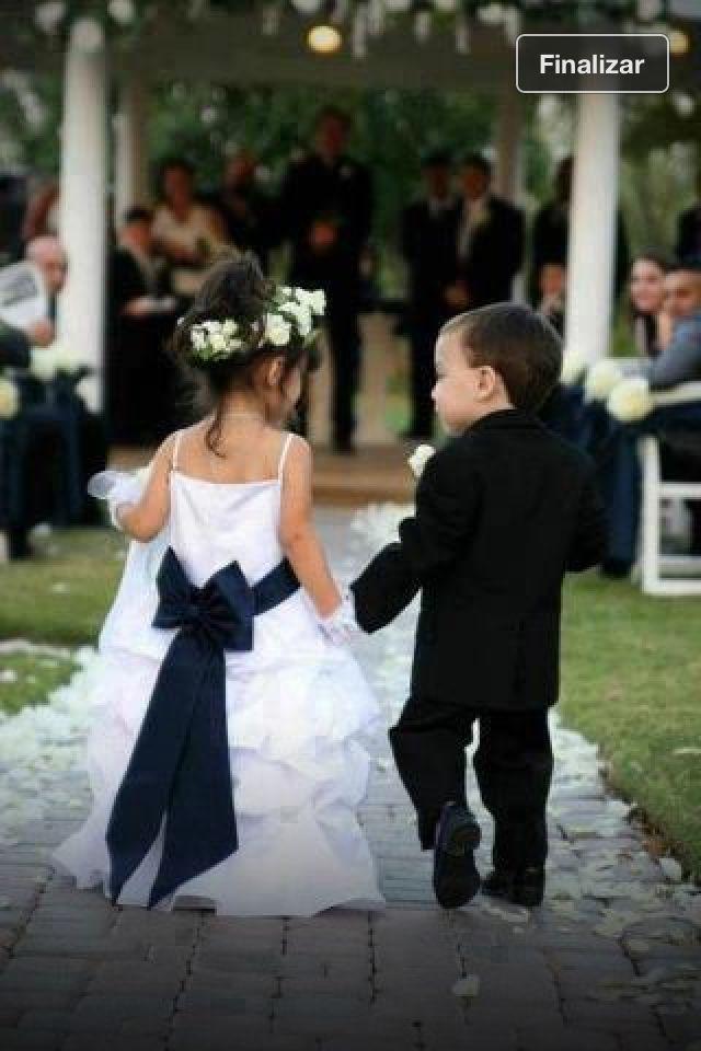 hermosa idea para el cortejo de niños | yes! i do !!!