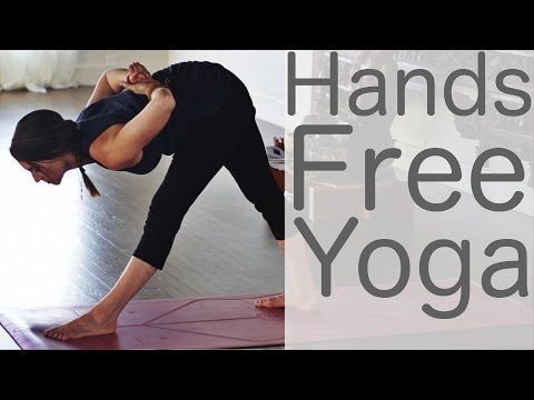 Handsfree yoga, if anybody has more vids like this pls hook me up. Really enjoy doing yoga but can't put any weight on my fingers.