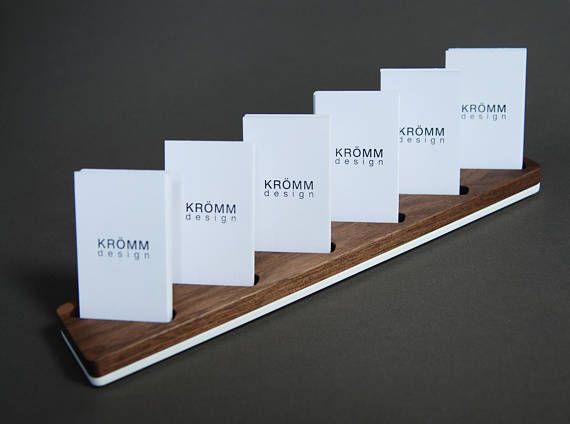 Multiple Vertical Moo Business Card Display Walnut And Etsy In 2021 Business Card Displays Business Card Stand Vertical Business Card Holder
