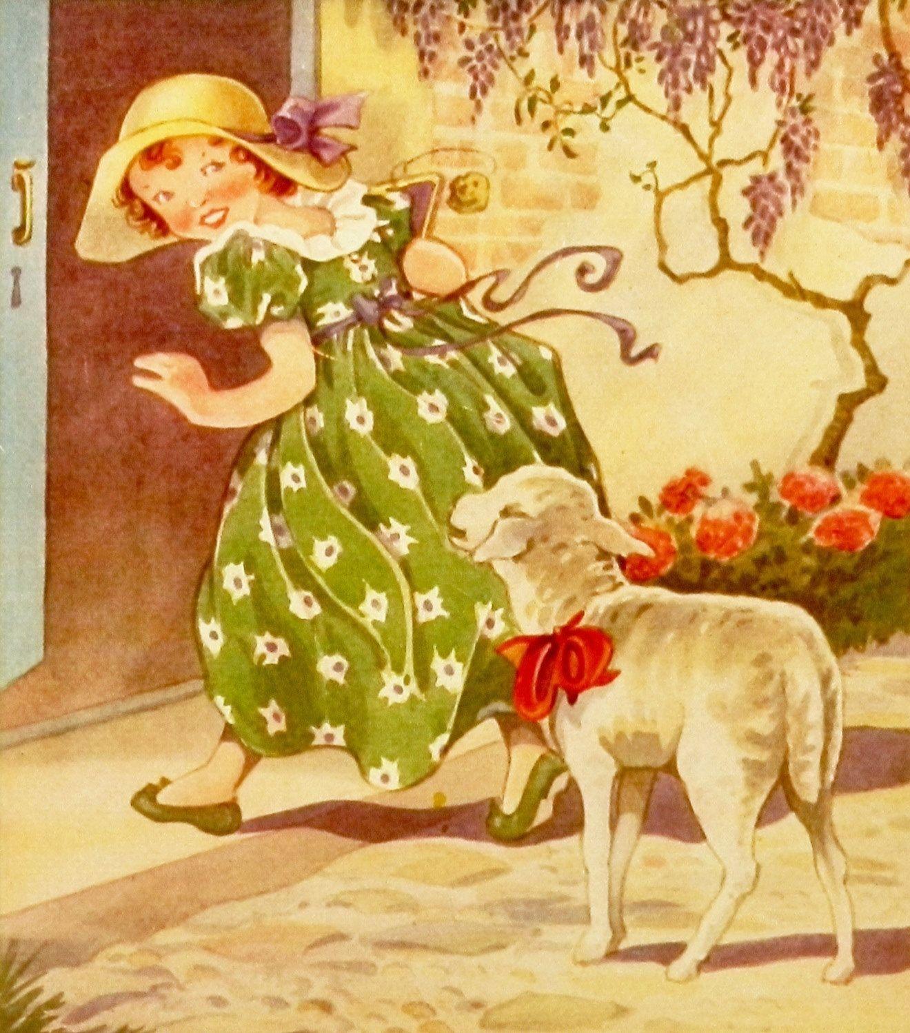 Nursery Rhyme print, via Etsy. | Väikesed tüdrukud ja poisid ...