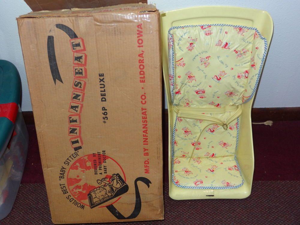 Vintage 1960s Infanseat Worlds BEST Baby Sitter Yellow Plastic Baby ...