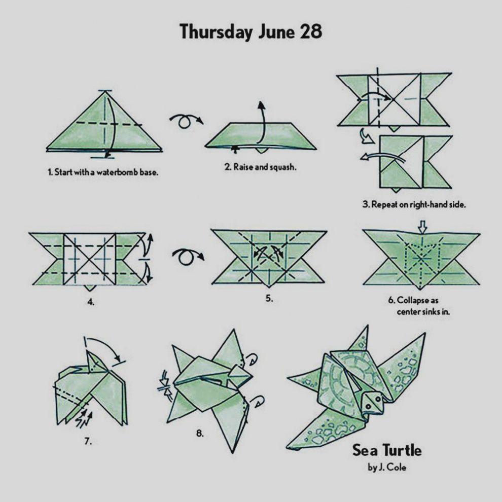 Origami Animals Tutorial: Origami Turtle - YouTube | 990x990