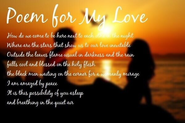 rhyming love poems for him with images