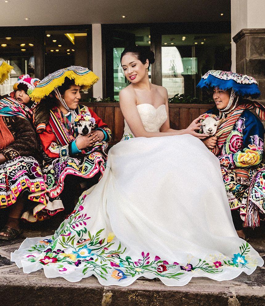 Spanish mexican wedding dress