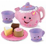This is so cute! The tea pot has a British accent.
