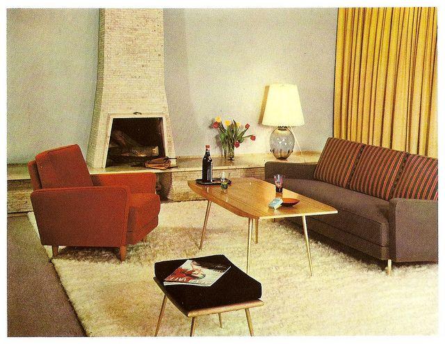 1960 Das schöne Zuhause - Wohnzimmer 2 1960s, Mid century and Mid