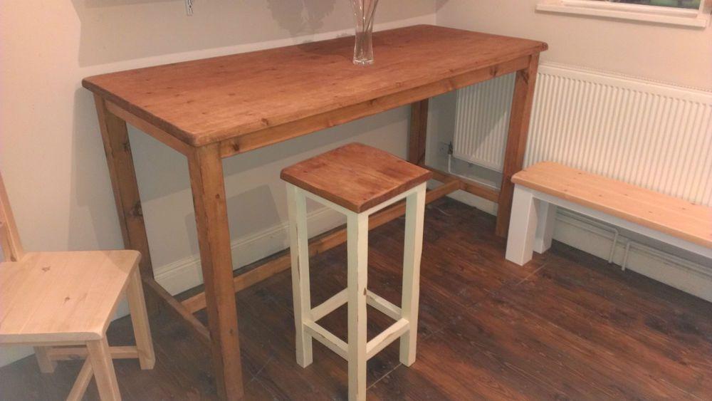 Handmade Bespoke Freestanding Breakfast Bar Kitchen Island With