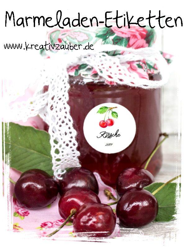 Etiketten Für Marmelade Marmeladenaufkleber Aufkleber