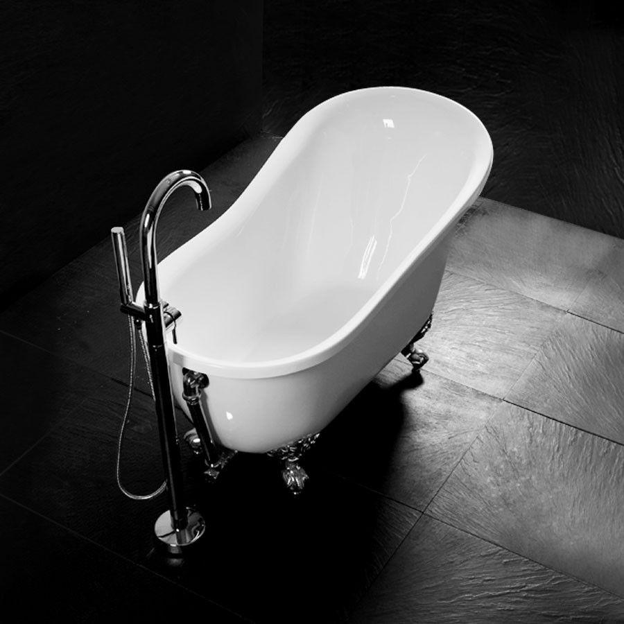 http://www.bathsvanities.com.au/bathtubs/saint-petersbourg-1300.html  SAINT PETERSBOURG 1300 mm Claw Foot Bathtub  Dimensions:1300x690x810 mm