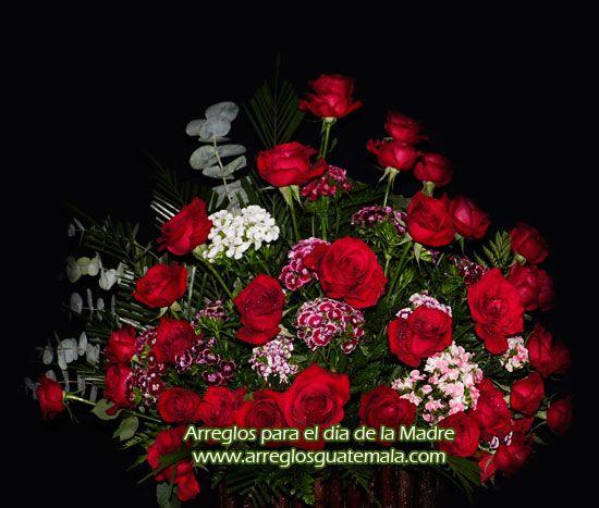 arreglo con flores para día de la madre, día de la mujer ...  arreglo con flo...