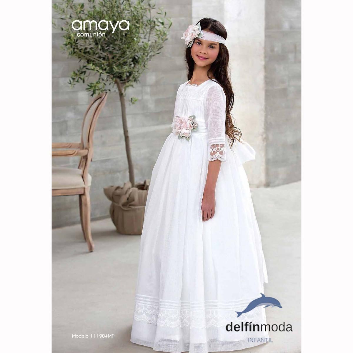 6ae2a9445ad Vestido de Comunión AMAYA 2018 modelo 111904