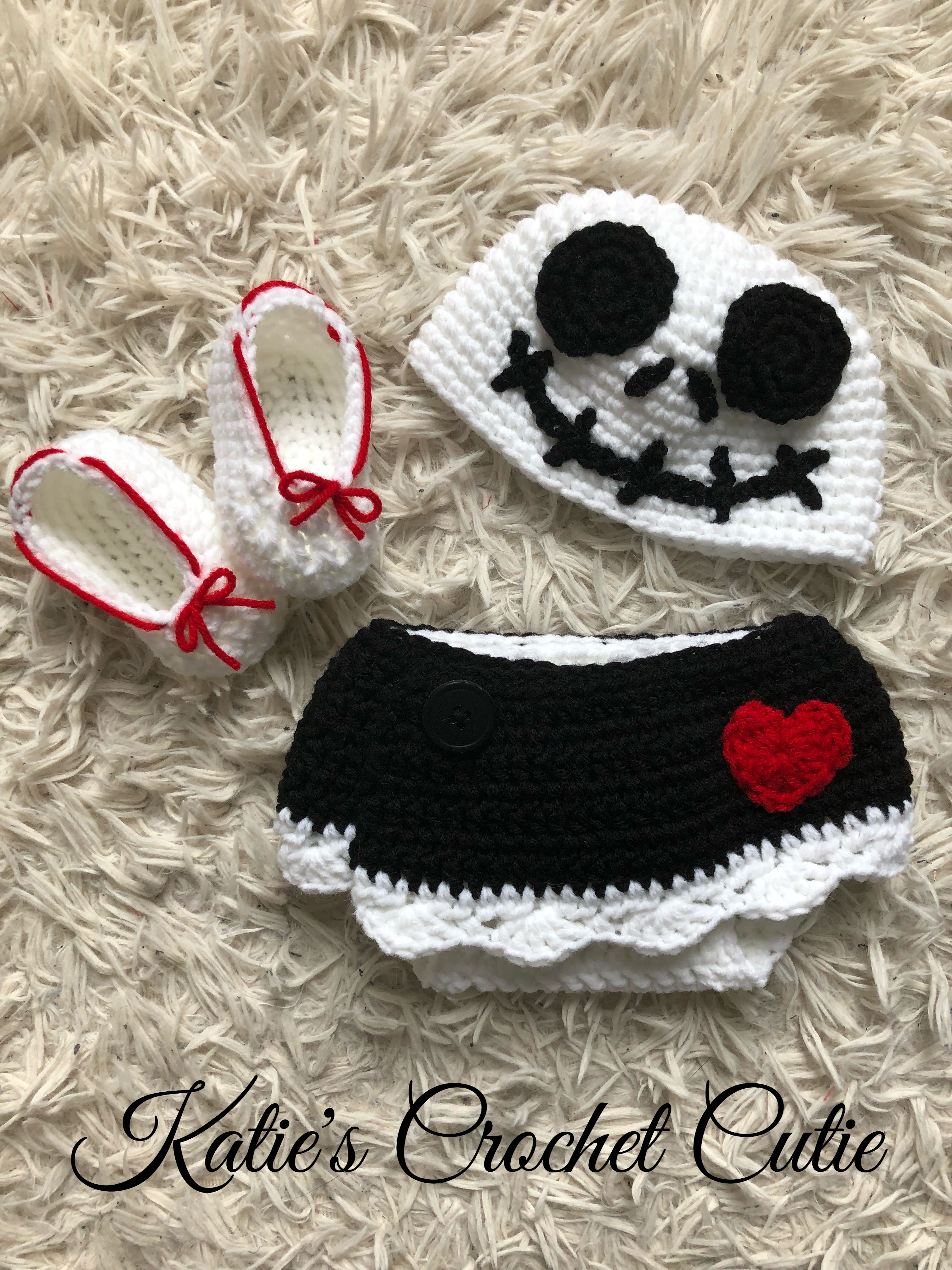 Nightmare Before Christmas - Crochet Baby Outfit - Made to Order ...