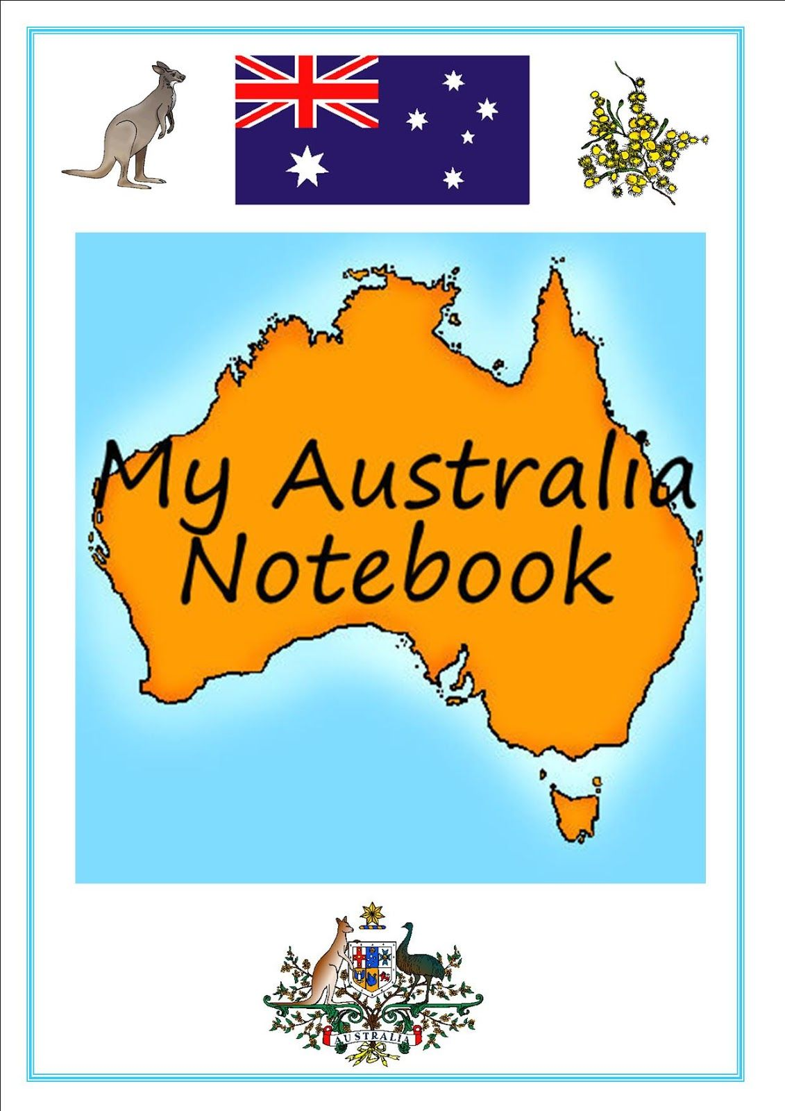 Free Printable My Australia Notebook Pages | Australia | Pinterest ...