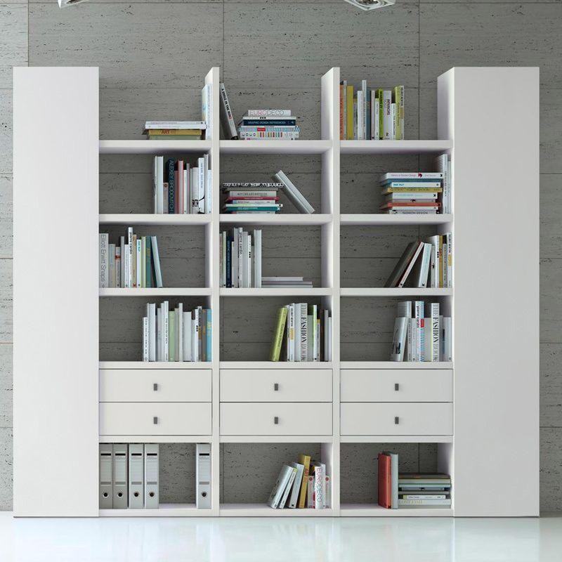 Wohnwand Bücherregal CD DVD Regal TOLEO238 weiß lackiert Jetzt - designer mobel bucherregal