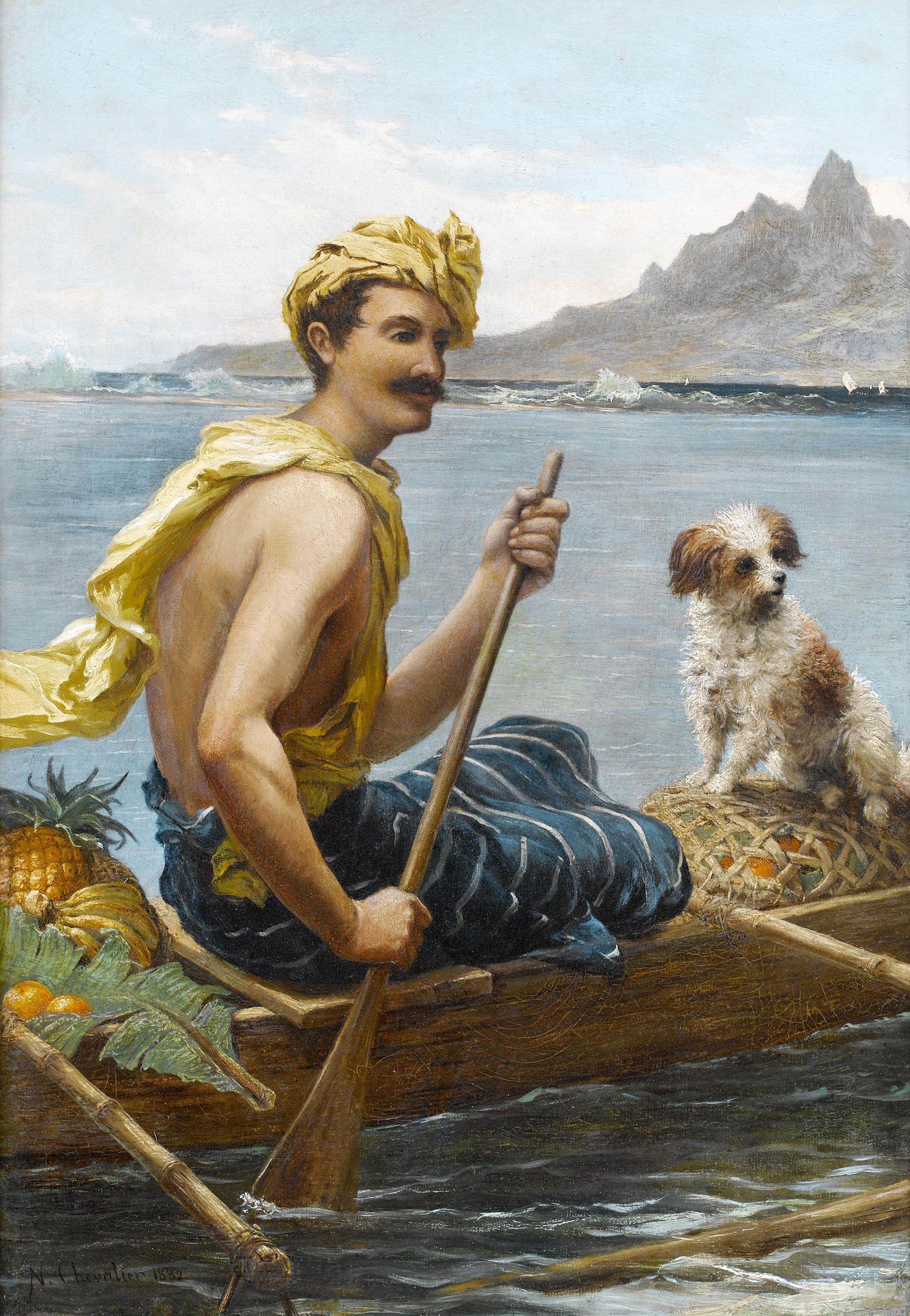 Nicholas Chevalier, Arcadia, South Sea Islands, 1882, oil on canvas.jpg