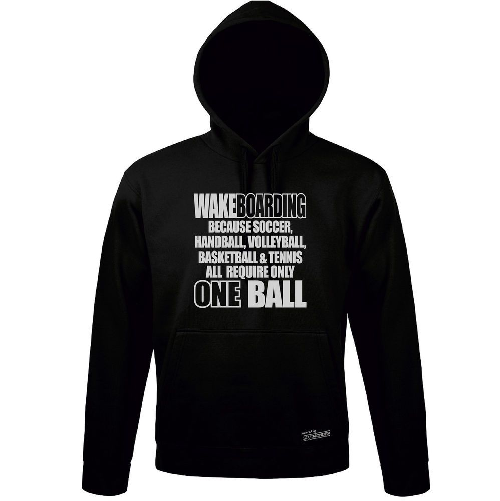 Sweatshirt Hoodie WAKEBOARDING others only ONE BALL Sport Siviwonder bis 3XL