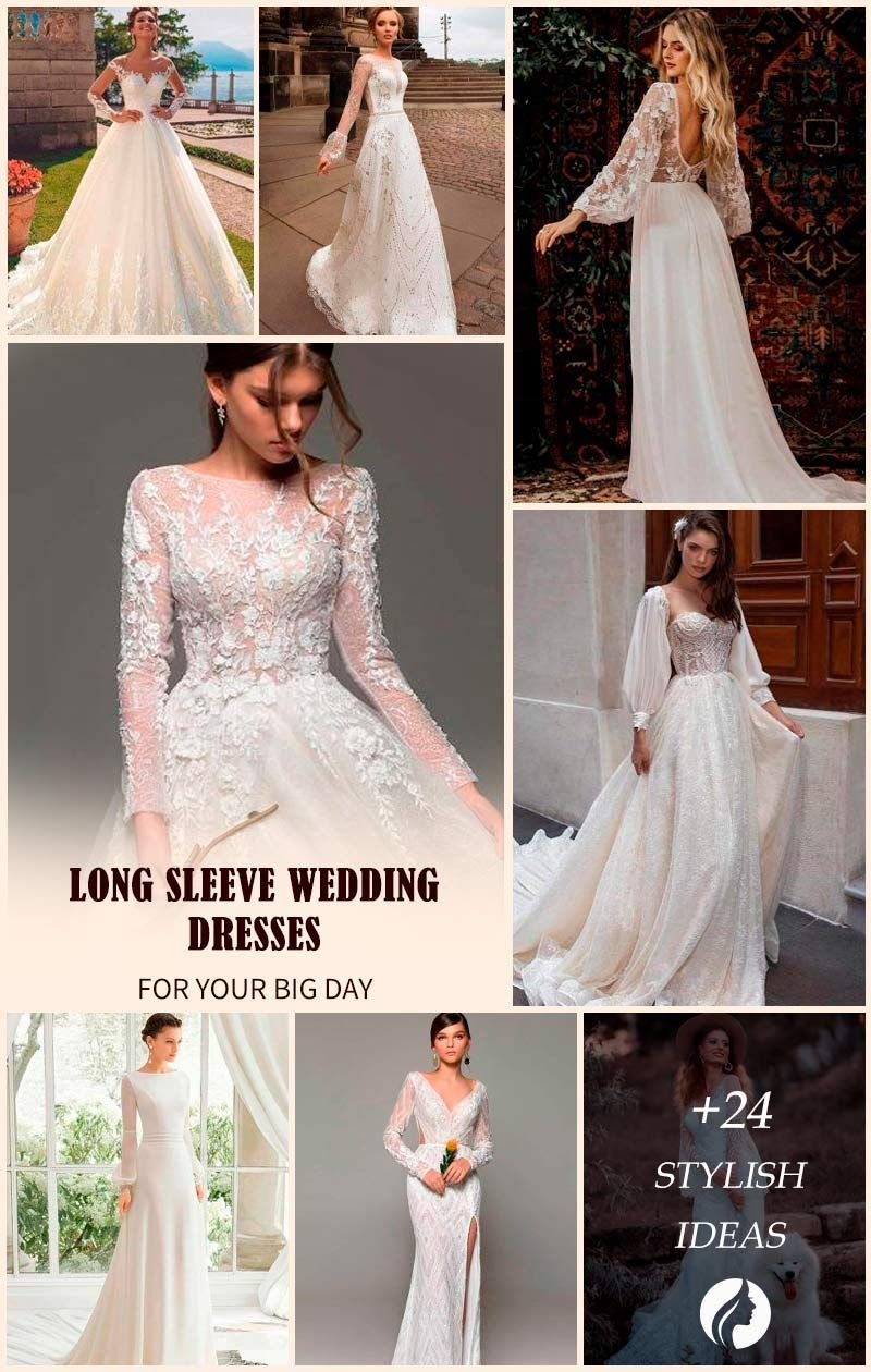 24 Magical Long Sleeve Wedding Dresses For Your