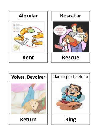 Verbos En Ingles Con Dibujos Spanish Language Learning Spanish Language Learning Spanish