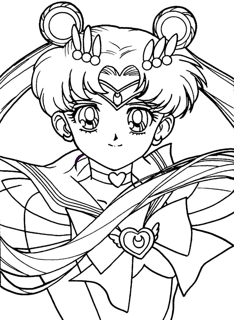 Sailor Moon by FoxyNeko09 Moon coloring pages, Sailor