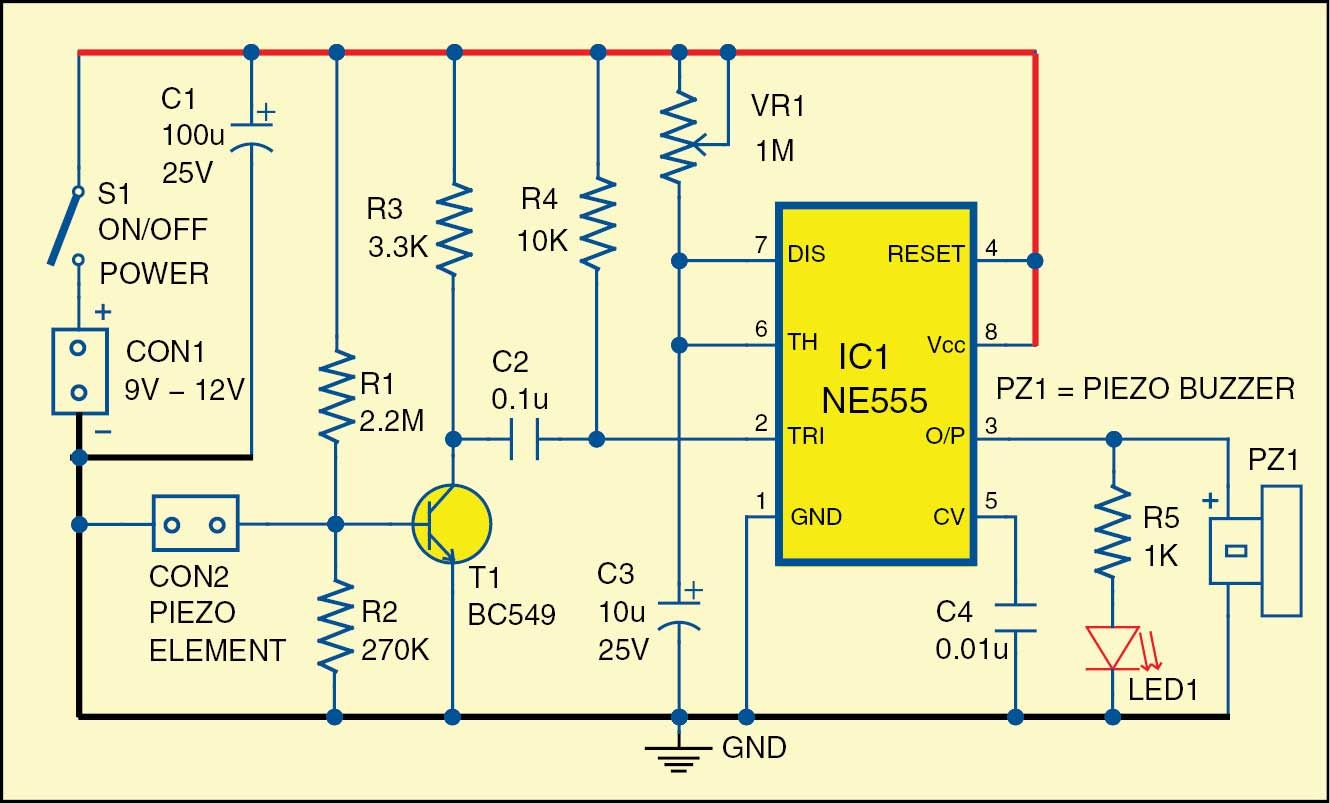 Electric Fence Circuit Diagram Diy 12 Volt Wiring Diagrams Fig 1 Of The Glass Break Alarm Electronica In