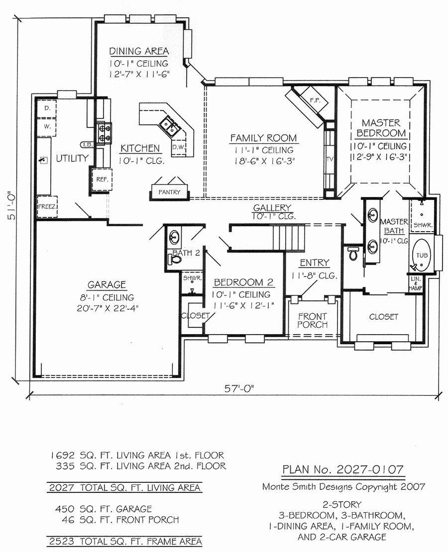 2200 sq ft house plans new 1701 2200 sq feet 3 bedroom