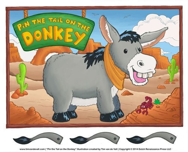 Free Printable Pin The Tail On Donkey If You Click