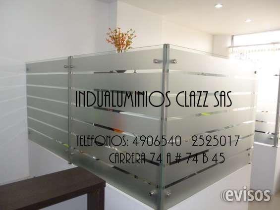 Divisiones De Oficina Vidrio Templado Aluminio Madera