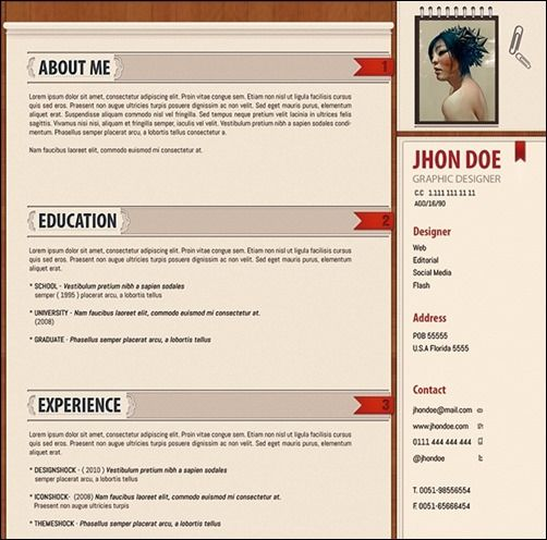 20 cv templates bundle thumb 30 Amazing Resume PSD Template - psd resume templates