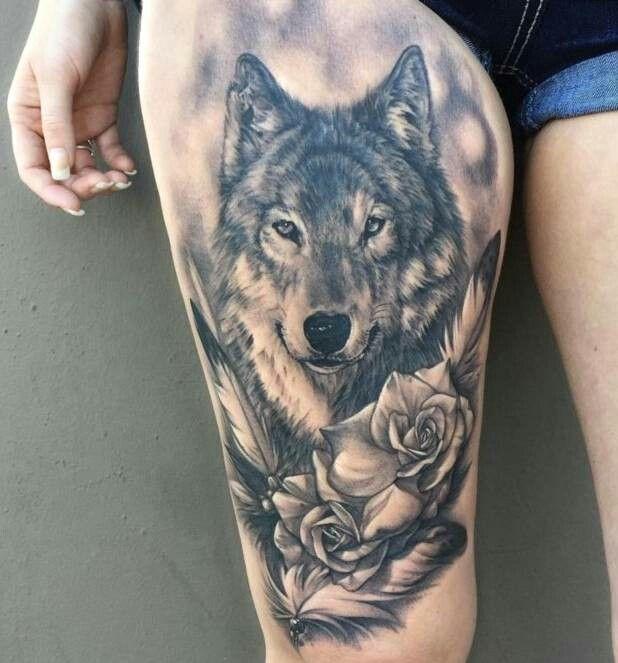 Photo of Wolf tattoo