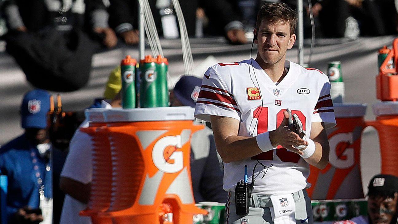 Source Eli gets QB job back after Giants firings Eli