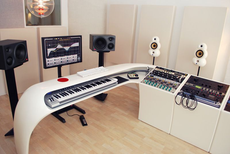 find this pin and more on home studio - Home Studio Desk Design