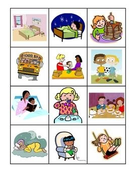day and night sorting picture cards elementary science resources preschool pictures. Black Bedroom Furniture Sets. Home Design Ideas
