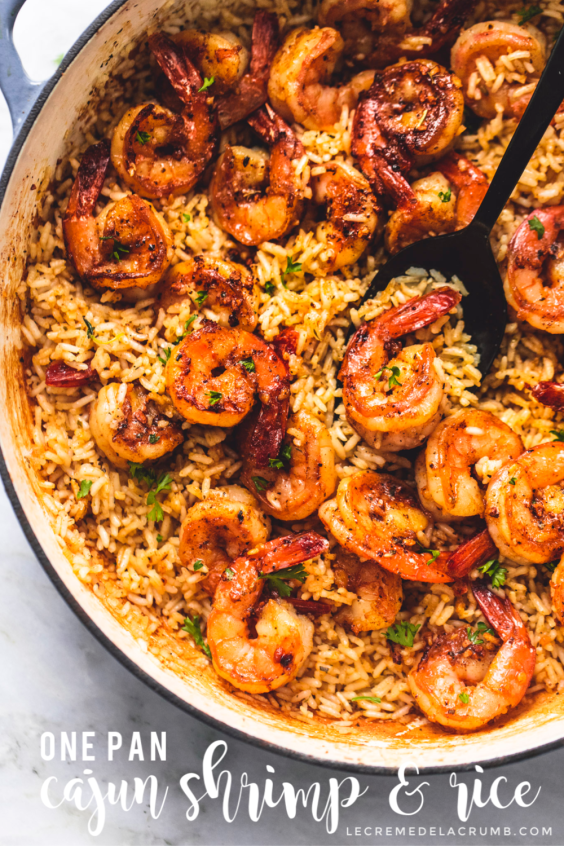 Cajun Shrimp and Rice Skillet #shrimprecipes