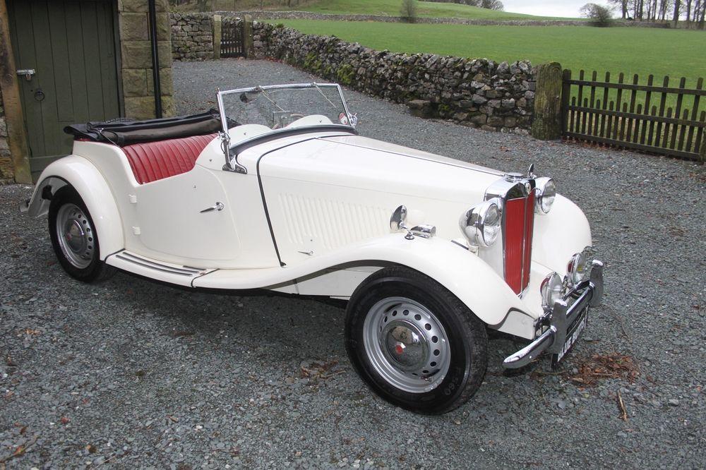 1952 MG TD/TF WHITE | eBay | Lovely Old Cars. | Pinterest | Car shop ...