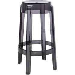 Photo of Kartell Charles Ghost stool, medium version, glossy black (opaque) KartellKartell