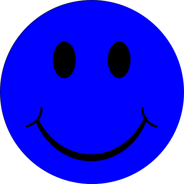 blue smiley face clip art vector clip art online royalty free rh pinterest com Free Black and White Smiley Face Clip Art Smiley Face Clip Art Outline