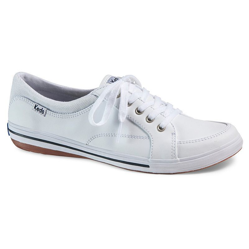 Keds White Vollie Leather Shoes  Women