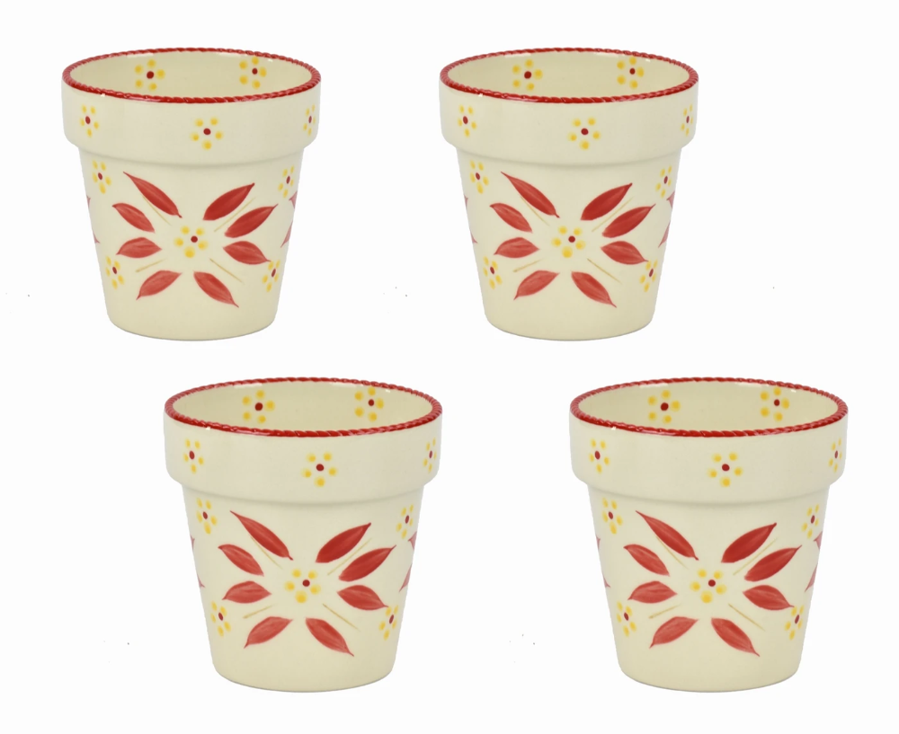 Tara S Must Haves Old World Set Of 4 Flower Pot Cups In 2020 Flower Pots Old World Flowers