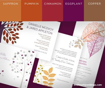 Free for All: Fall Wedding Colors