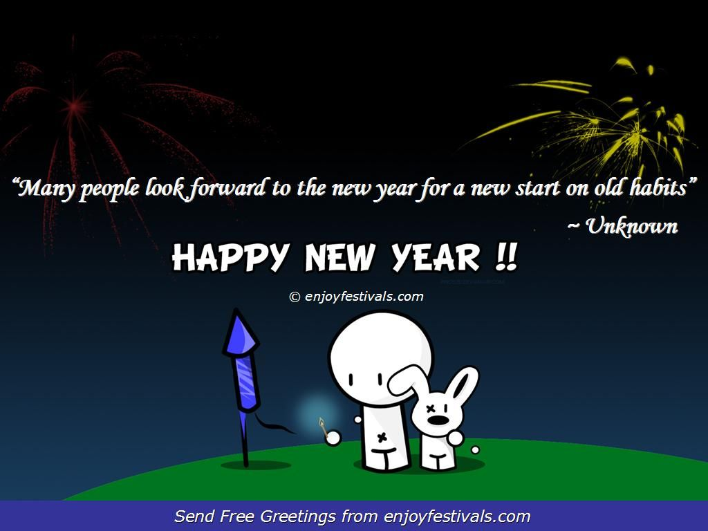 Happy New Year Wallpaper With Quotes: Funny New Year Quotes Wallpapers