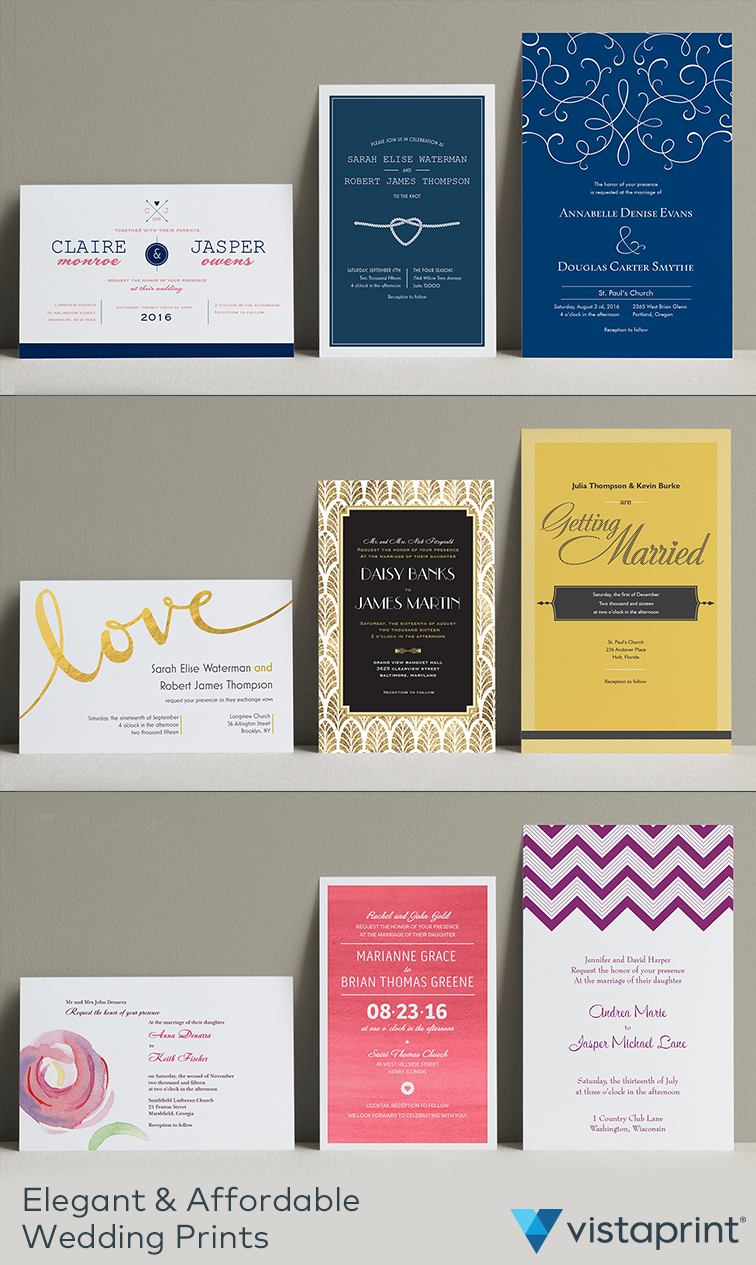 Create a savethedate that no one will miss with Vistaprint