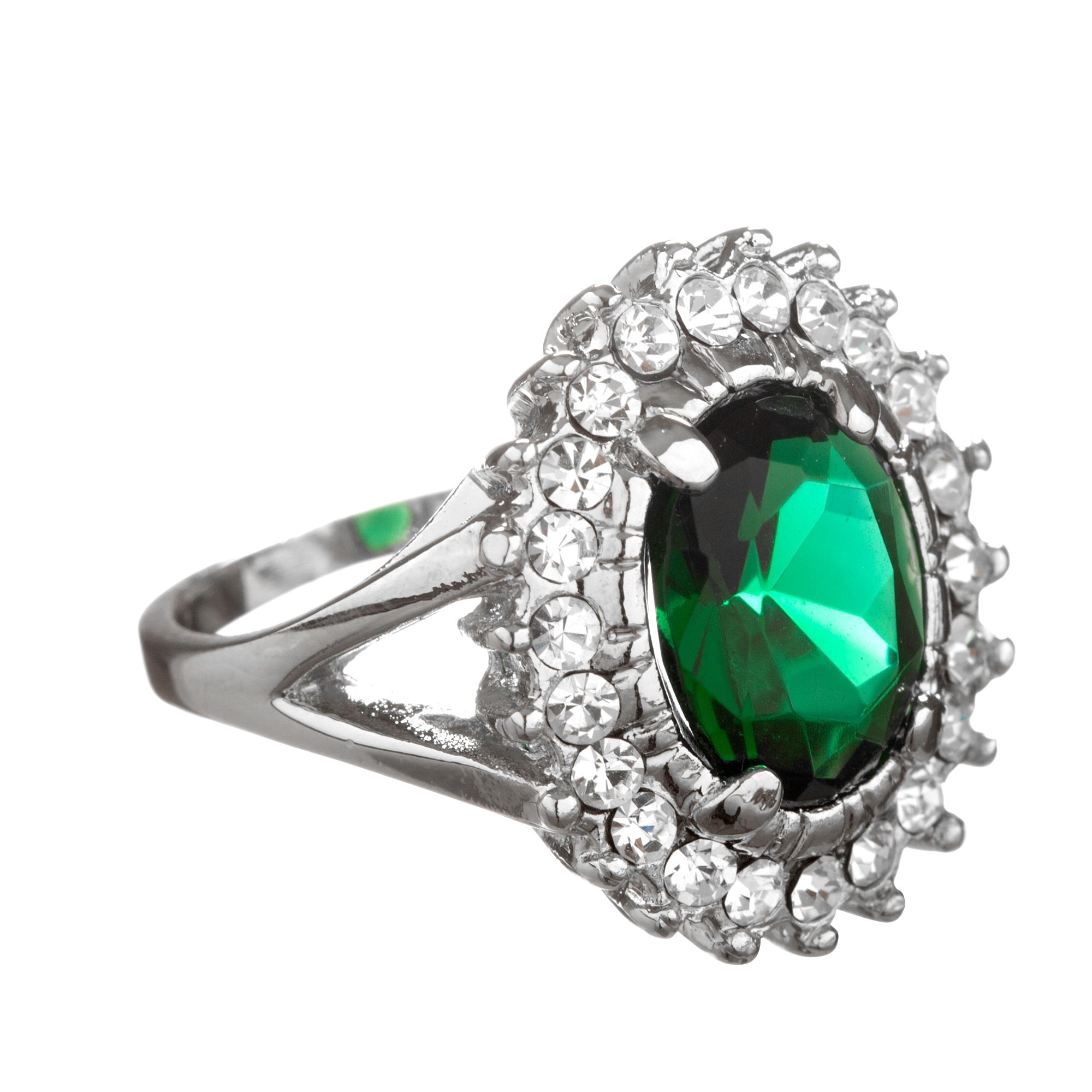 fine created emerald silver sterling women green ring rings solitaire image jewelrypalace product for products square jewelry