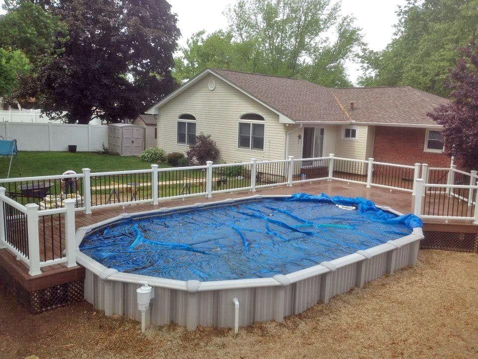 Semi above ground pool pool pinterest more ground - Semi above ground pool ideas ...