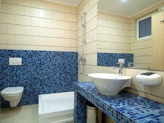 صور ديكور حمامات حديثة 2015 حمامات عصرية باللون الازرق 2015 Decor Alcove Bathtub House