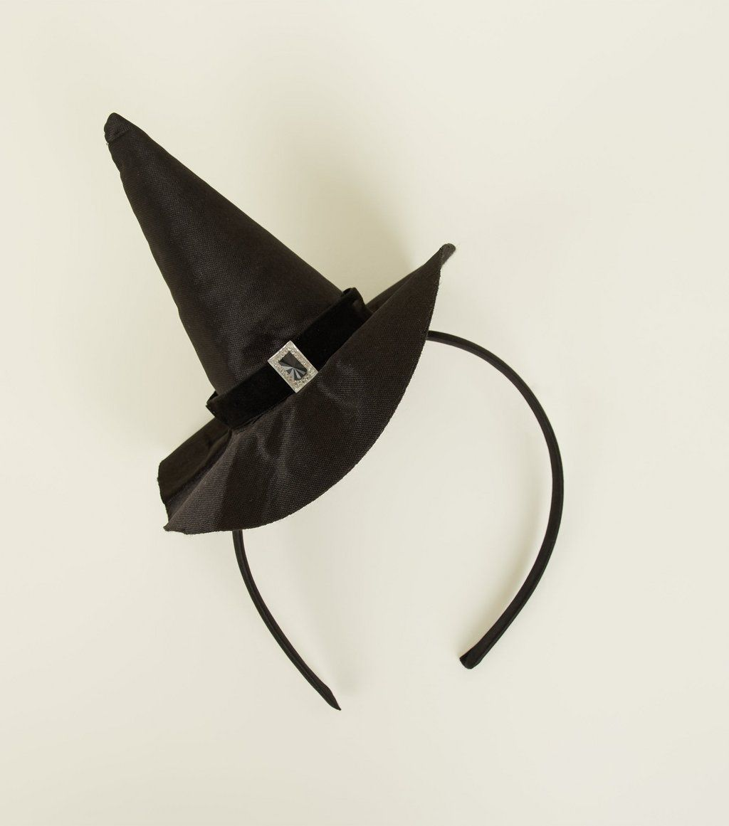BRAND NEW COSTUME Witch Hat Black Nylon Plain
