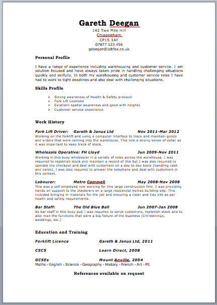 Cv Template Examples Uk With Images Cv Template Resume