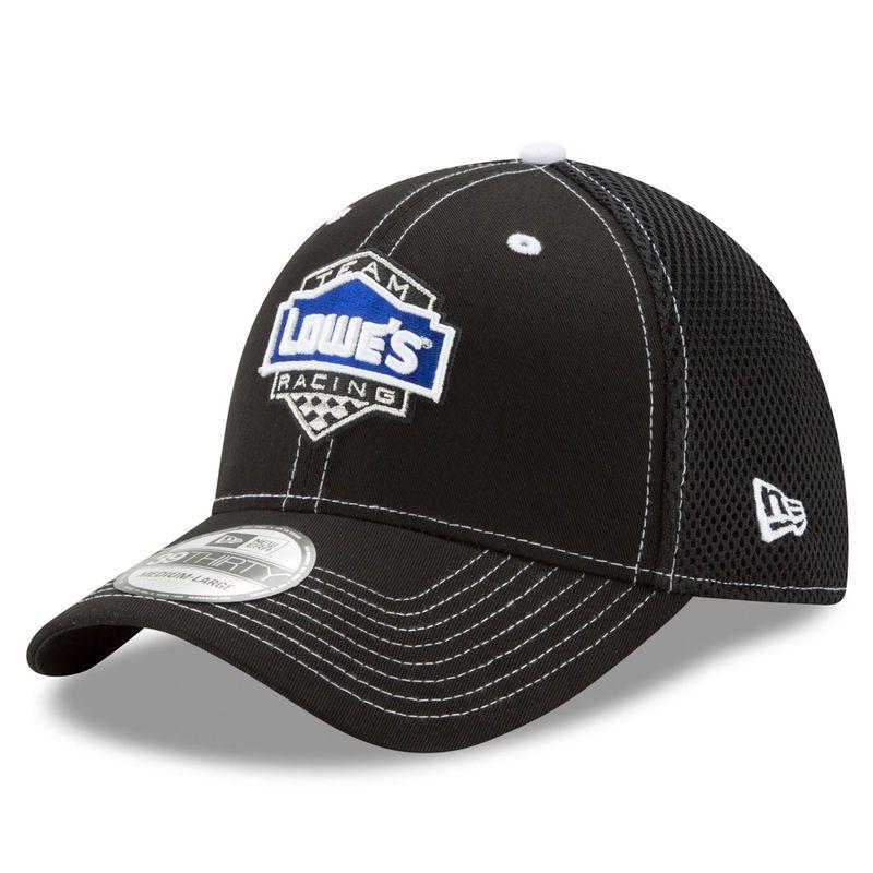 Jimmie Johnson New Era Lowe s Neo 39THIRTY Flex Hat - Black Lowes c347bee1755