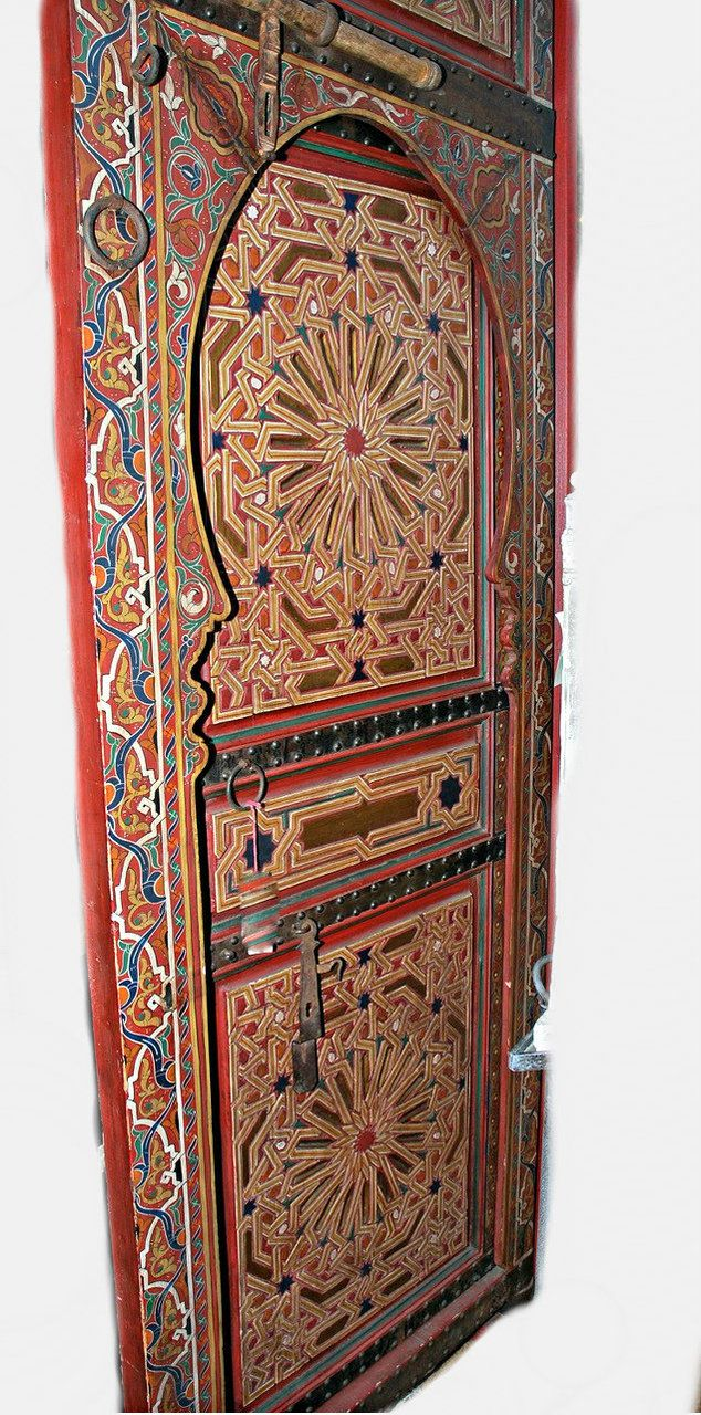 Graham Geddes Antiques   A Pair Of Moroccan Painted Doors., Call (03)